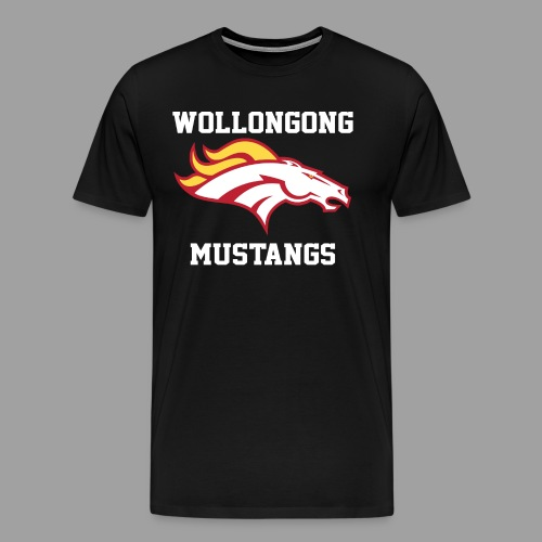 Mustangs Logo White - Men's Premium T-Shirt