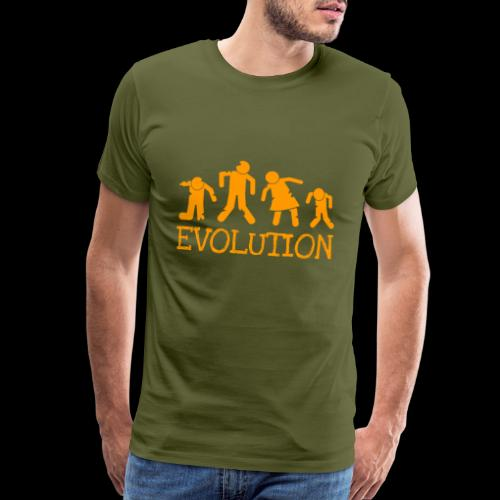Evolution of the Zombie - Men's Premium T-Shirt