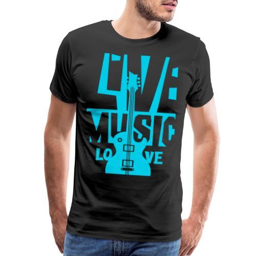 live music guitar - Men's Premium T-Shirt