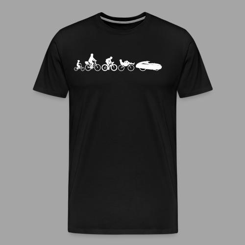 Bicycle evolution white - Men's Premium T-Shirt