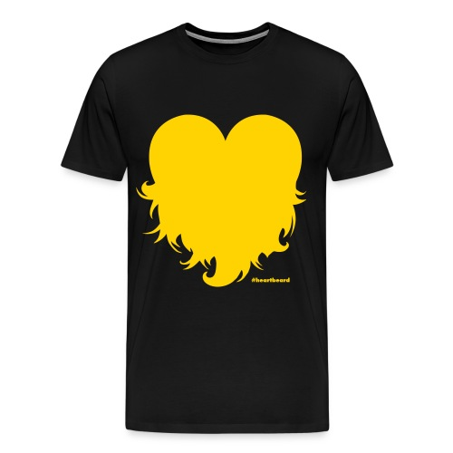 Heartbeard with text - Men's Premium T-Shirt