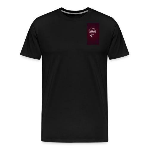 Bagelboos - sharp wing basic tee - Men's Premium T-Shirt