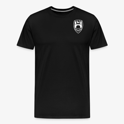 GTI & R Logo - white - Men's Premium T-Shirt