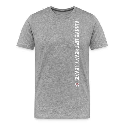 Arrive Lift Heavy Leave plus logo - Men's Premium T-Shirt