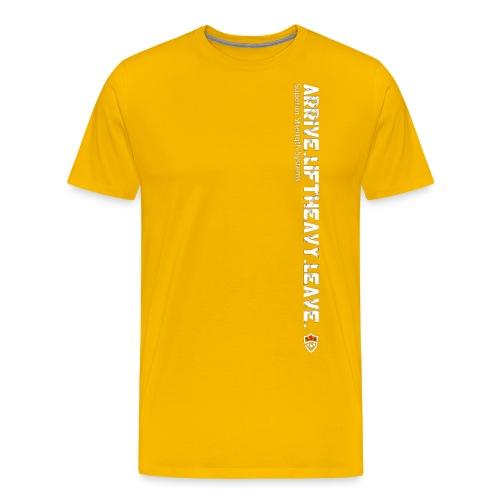 Arrive Lift Heavy Leave plus logo - Men's Premium T-Shirt