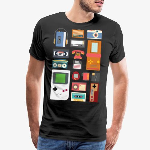 Retro 90's Technology Gadgets Gift shirt - Men's Premium T-Shirt