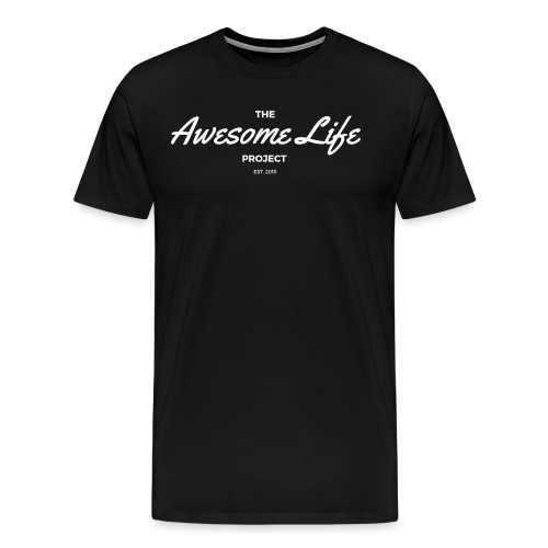 The AwesomeLife Project Logo White - Men's Premium T-Shirt