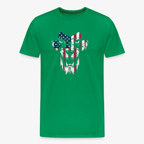American Flag Lion - Men's Premium T-Shirt