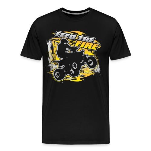 ATV Quad Feed the Fire - Men's Premium T-Shirt