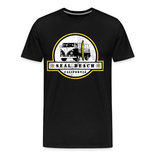 Seal Beach California Hippie Van Shirt Surfer - Men's Premium T-Shirt