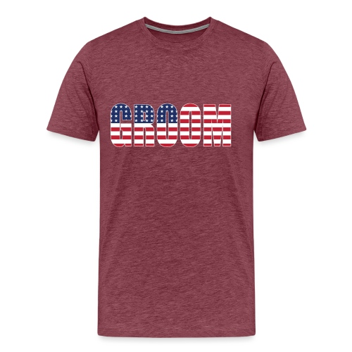 Groom US Flag - Men's Premium T-Shirt