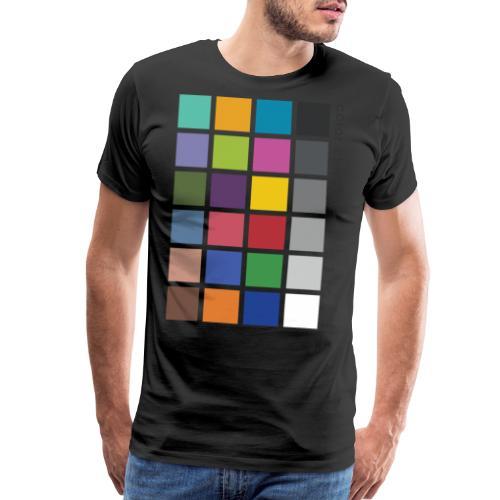 Photographer's Color Checker tee - Men's Premium T-Shirt