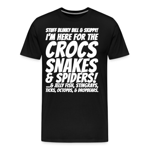 Crocks snakes and spiders shirt - Men's Premium T-Shirt