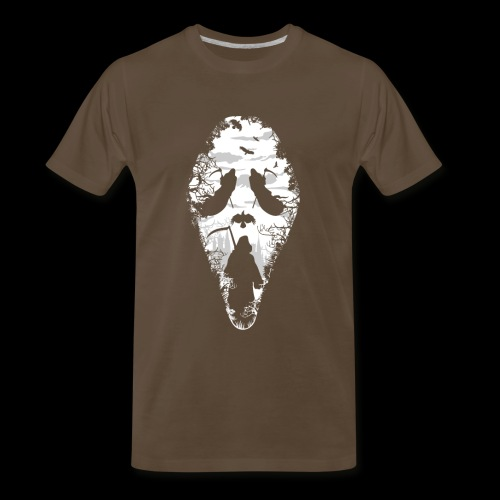 Reaper Screams | Scary Halloween - Men's Premium T-Shirt