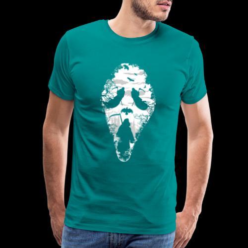 Reaper Screams   Scary Halloween - Men's Premium T-Shirt