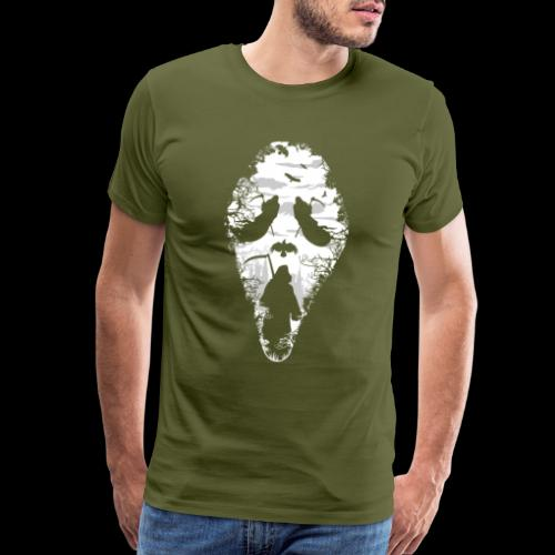 Reaper Screams | Scary Halloween - Men's Premium T-Shirt