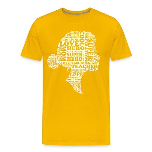 Mother Definition, Teacher Mom, Great Teacher Mom - Men's Premium T-Shirt