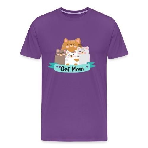 Cat MOM, Cat Mother, Cat Mum, Mother's Day - Men's Premium T-Shirt