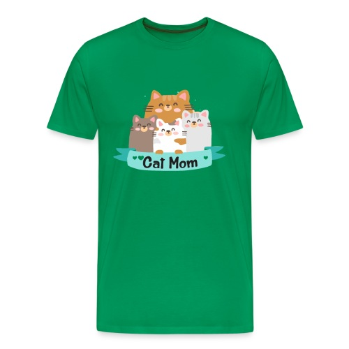 Cat MOM, Cat Mother, Cat Mum, Mother's Day - Men's Premium T-Shirt