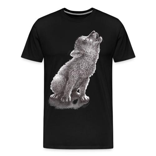 Little Howling Wolf - Men's Premium T-Shirt