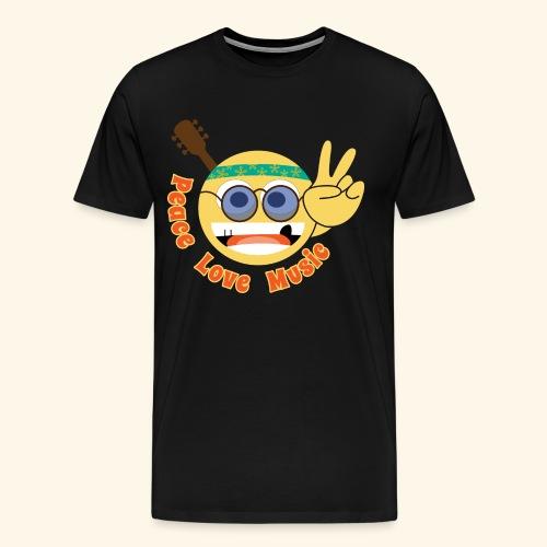 Peace love music hippie smiley - Men's Premium T-Shirt