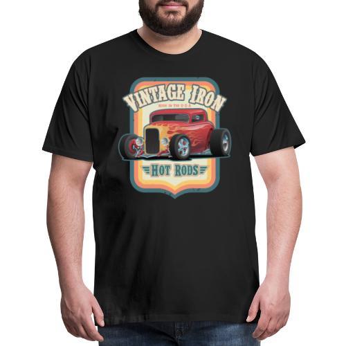 Vintage Iron Hot Rods Retro Car Lovers Design - Men's Premium T-Shirt