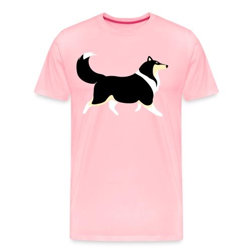 Merle Collie silhouette - Men's Premium T-Shirt