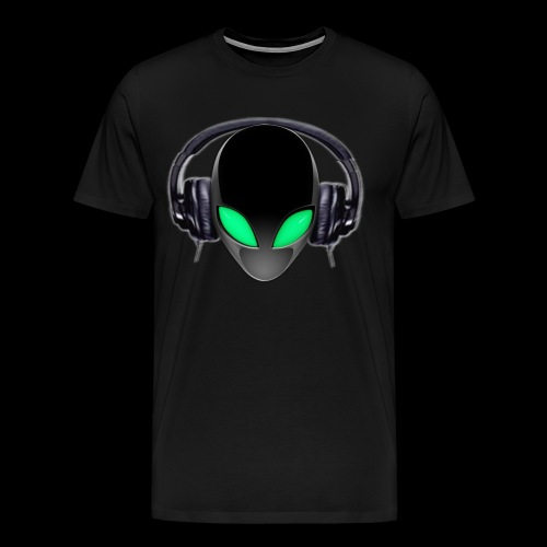 Alien Music Lover DJ (Simplified Fit All Design) - Men's Premium T-Shirt