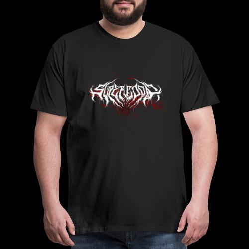 Supercool! Logo REVAMPIRED [BLOODY WHITE] - Men's Premium T-Shirt