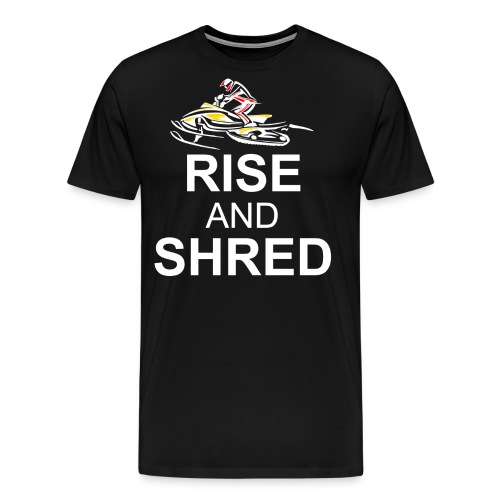 RISE AND SHRED NOB png - Men's Premium T-Shirt