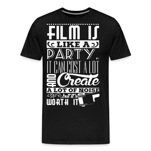 Film is like a party - Men's Premium T-Shirt