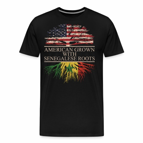 american grown with senegalese roots - Men's Premium T-Shirt