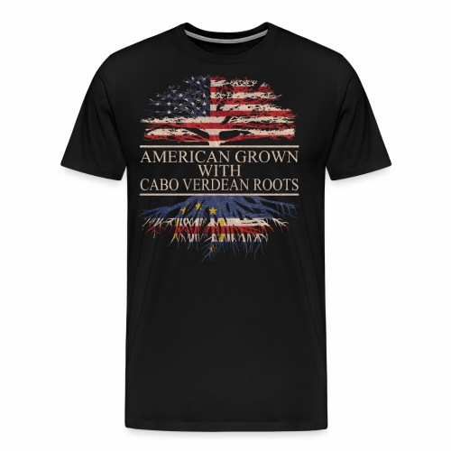 american grown with cabo verdean roots - Men's Premium T-Shirt