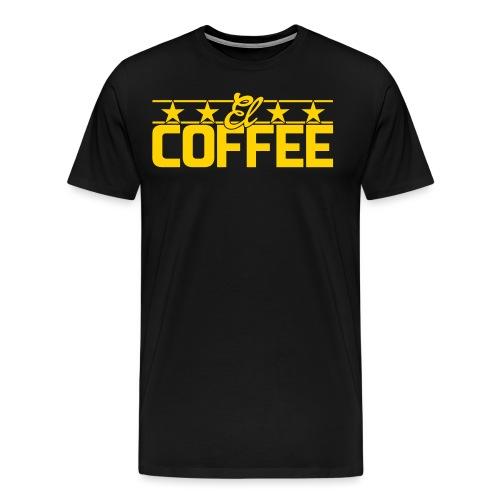 el coffee text vprv - Men's Premium T-Shirt