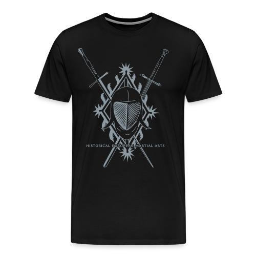 Fencing mask and crossed swords - Men's Premium T-Shirt