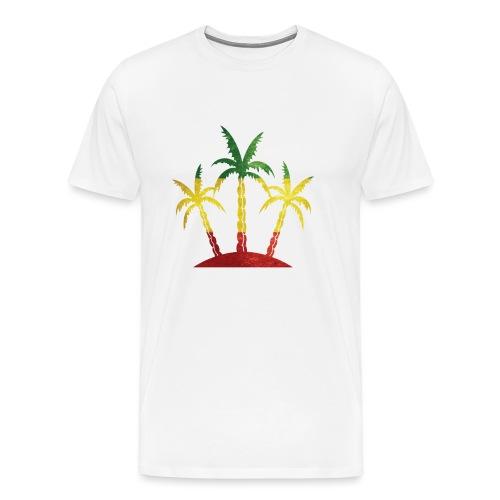 Palm Tree Reggae - Men's Premium T-Shirt