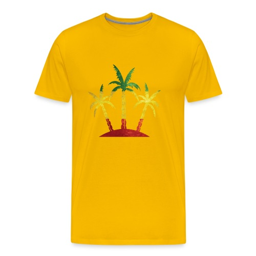 Palm Tree Reggae - Men's Premium T-Shirt