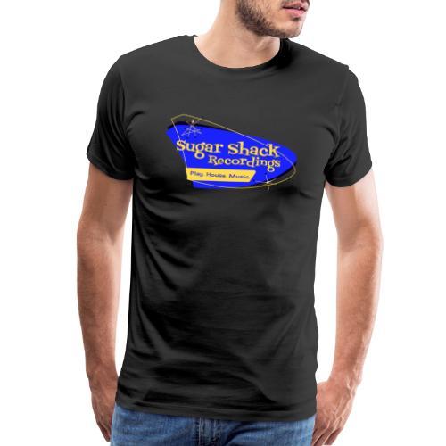 Mid Century Shack Blue Yellow - Men's Premium T-Shirt