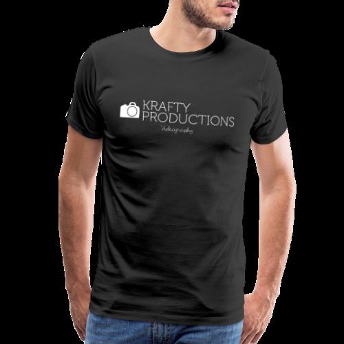 White Krafty Productions Logo - Men's Premium T-Shirt
