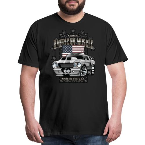 Classic American Muscle Car - Men's Premium T-Shirt