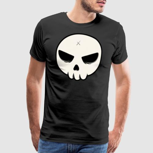 Skull Streetart Halloween cross bones - Men's Premium T-Shirt