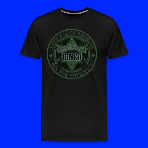 Vintage Cannonball Bingo Badge Dark Green - Men's Premium T-Shirt