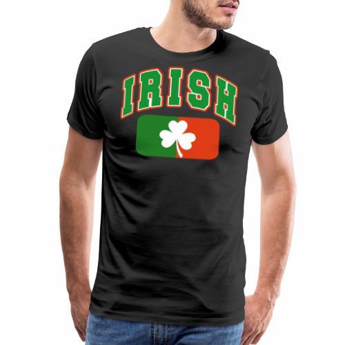 Vintage Irish Flag Shirt St Patricks Day Shamrock - Men's Premium T-Shirt