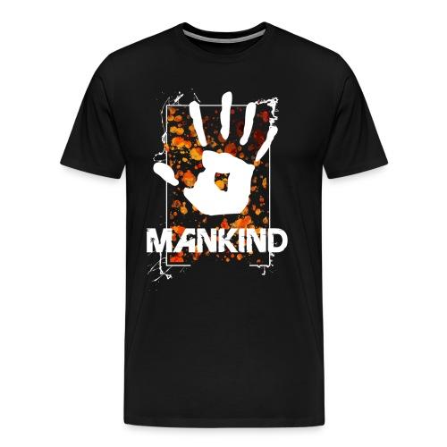 Mankind splatter design hand - Men's Premium T-Shirt