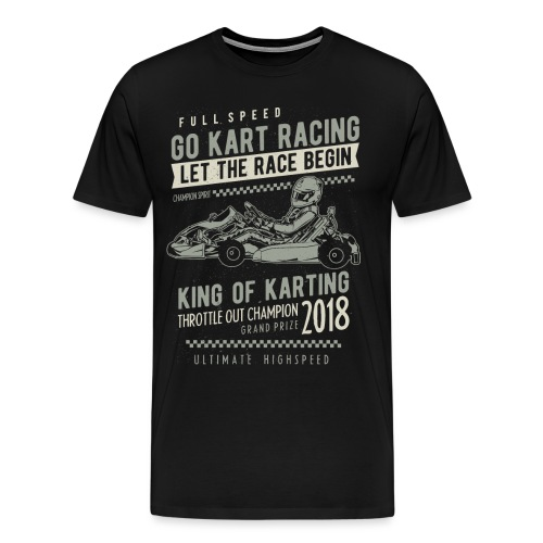 Go Kart Racer 2018 - Men's Premium T-Shirt