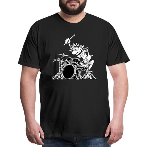 Crazy Drummer Cartoon Illustration - Men's Premium T-Shirt