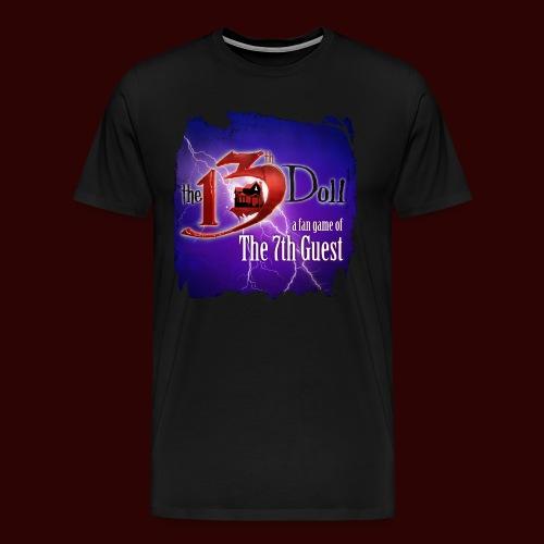 The 13th Doll Logo With Lightning - Men's Premium T-Shirt