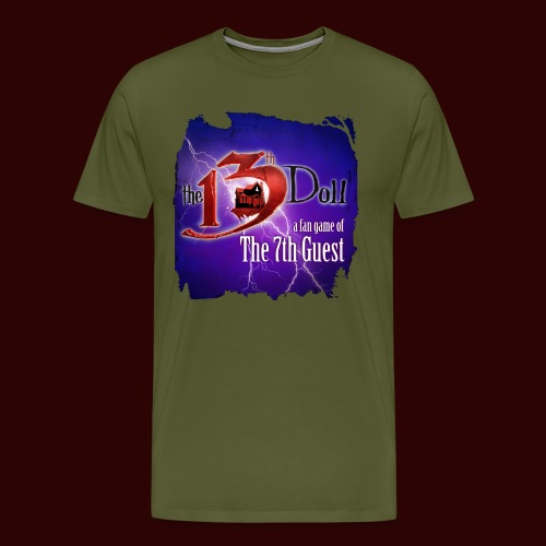 The 13th Doll Logo With Lightning - Men's Premium T-Shirt