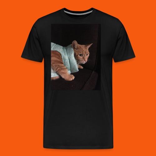 Trendy Orange Cat - Men's Premium T-Shirt