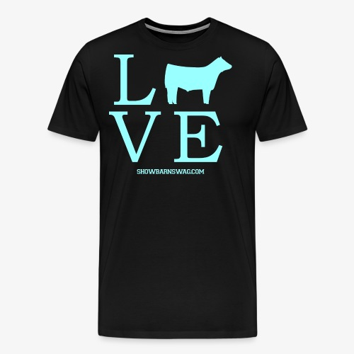 Love Beef Teal - Men's Premium T-Shirt